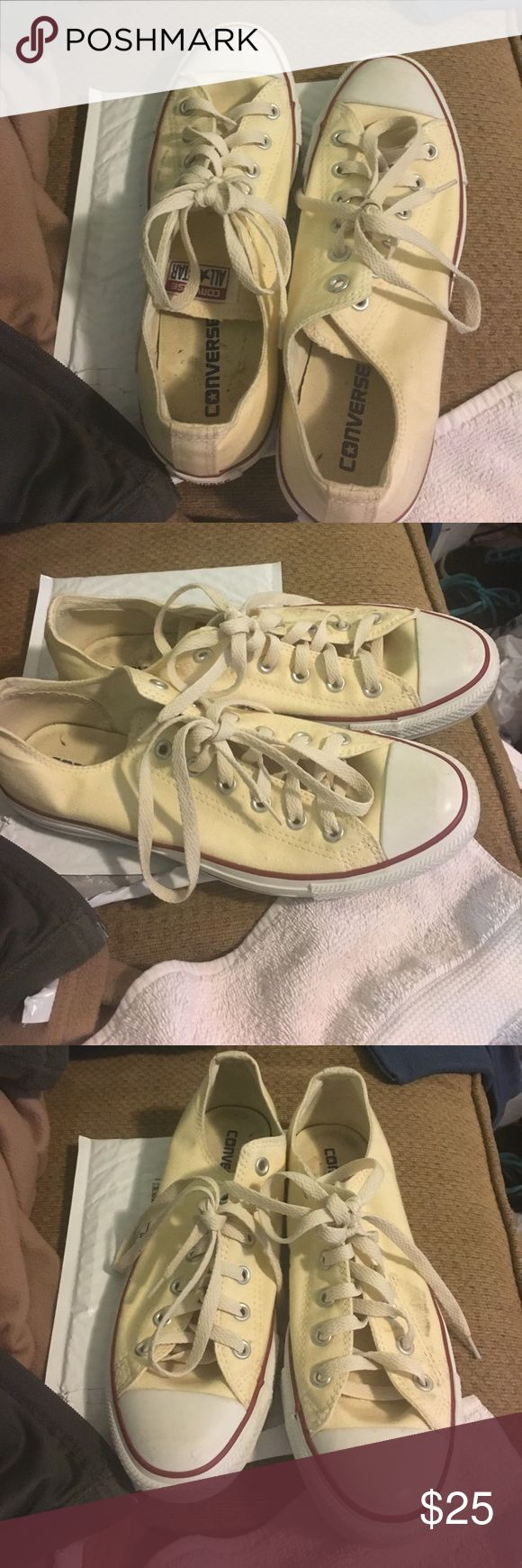 Low tops off white converse It's low tops off white converse in size 10 Converse Shoes Sneakers