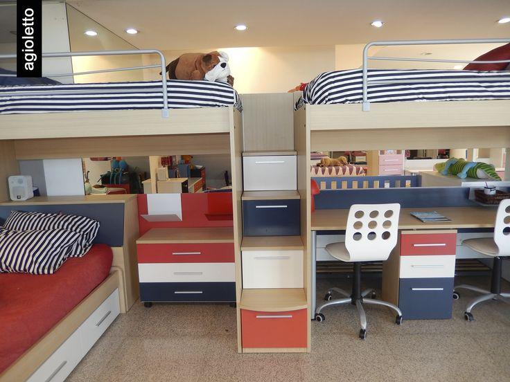 Con las camas agioletto pod s aprovechar el espacio de for Camas dos en una