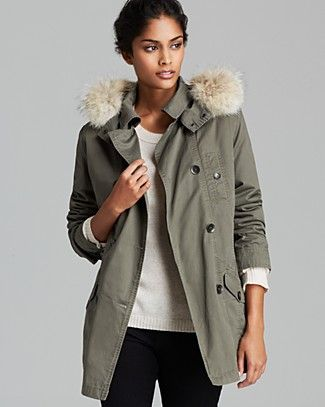 Marc New York Coat - Washed Cotton.