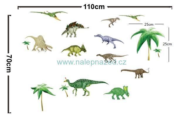 Samolepky na zeď | DĚTSKÉ MOTIVY | Dino park | www.nalepnazed.cz