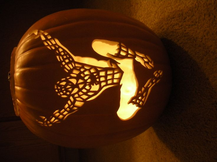 Spiderman Pumpkin Template. Awesome and unusual spider-man face ...
