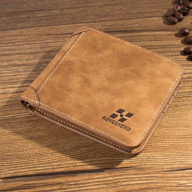 New arrival Vintage Short designer Nubuck Leather Man wallets Solid purse for men card holders monederos carteras hombre