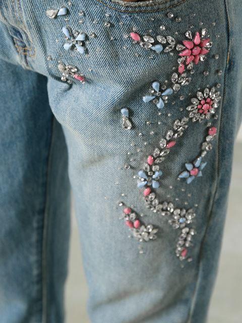 Msgm Embellished Short Jeans - Gente Roma