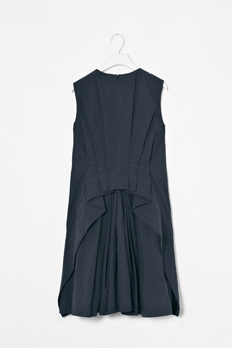 Pleated back dress