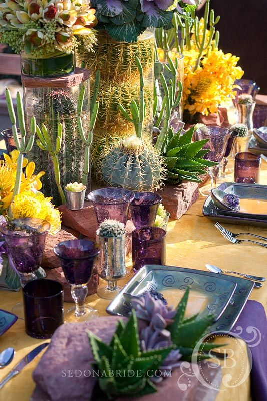 Love this - Southwest wedding table...