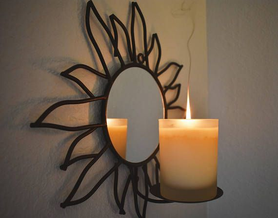 Indoor Outdoor Candle Wall Sconce From The 90s Also Looks Cute