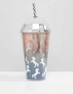 New Look Ombre Unicorn Glitter Shake It Cup