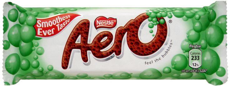 The mint chocolate Aero bar from the UK is my favorite candy bar of all time.
