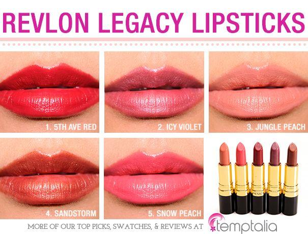 Revlon Legacy Collection Super Lustrous Lipsticks Reviews, Photos, Swatches
