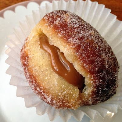 Hmmmmm .... donut!  and with salted caramel filling.  Movida Bakery.