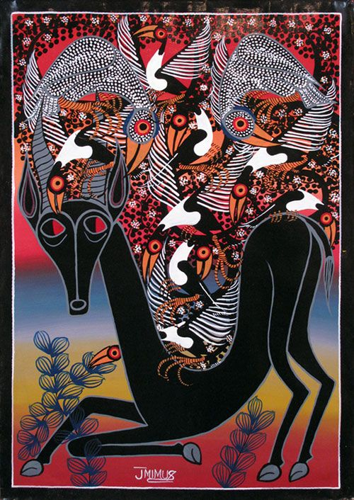 Fantastical Tanzania art | Tinga Tinga Paintings from Tanzania