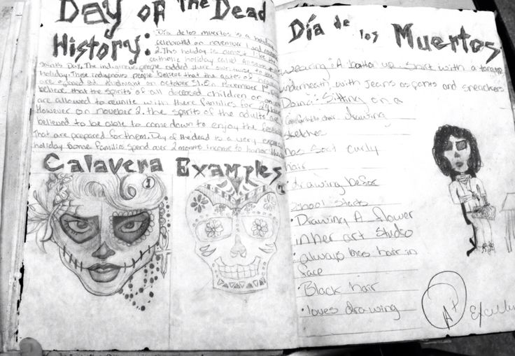 Research for Masks made from plaster strips on student's faces for El Dia de Los Muertos!