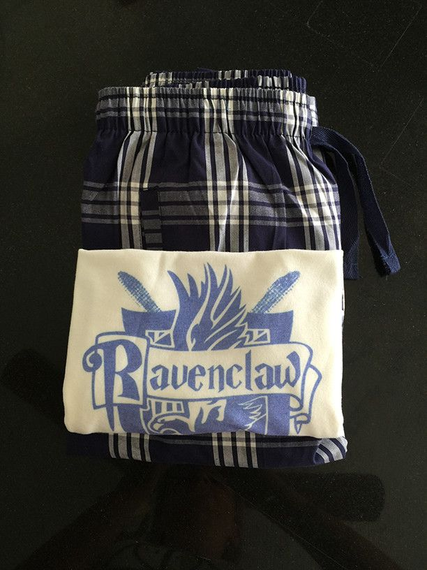 Harry Potter Ravenclaw Quidditch team captain House lounge wear gift set pjs pj pajama party college dorm fandom vacation