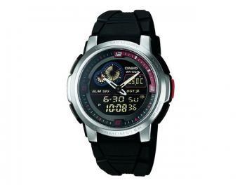 Relógio Masculino Casio Mundial AQF 102W 1BV - Anadigi com Termômetro Resistente à Água