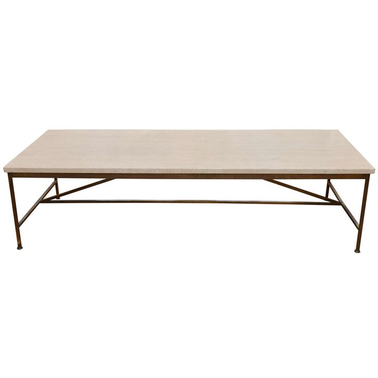 Mid-Century Paul McCobb Travertine Coffee Table   From a unique collection of antique and modern coffee and cocktail tables at https://www.1stdibs.com/furniture/tables/coffee-tables-cocktail-tables/