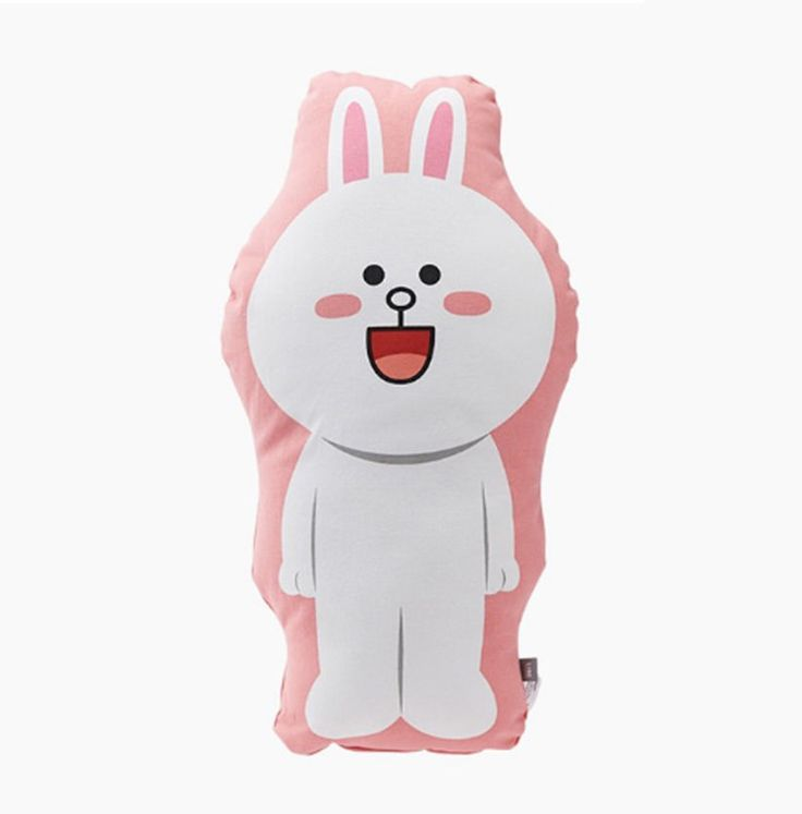 LINE Friends Shaped cushion Cony full body Character Doll Gift Toy GENUINE #LINEFriends #Dolls