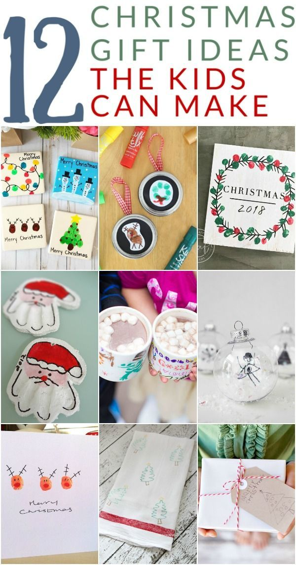 12 Sentimental Homemade Christmas Gifts From Kids Kids Homemade Christmas Gifts Homemade Christmas Gifts Handmade Christmas Gifts