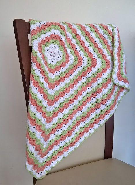 Szydełkowe Impresje: Kocyk dla małej Leny / Baby's blanket for Lena's