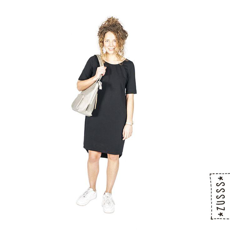 Zusss | Kies jouw stijl | http://www.zusss.nl/shop_the_look/basic-jurkje-zwart/