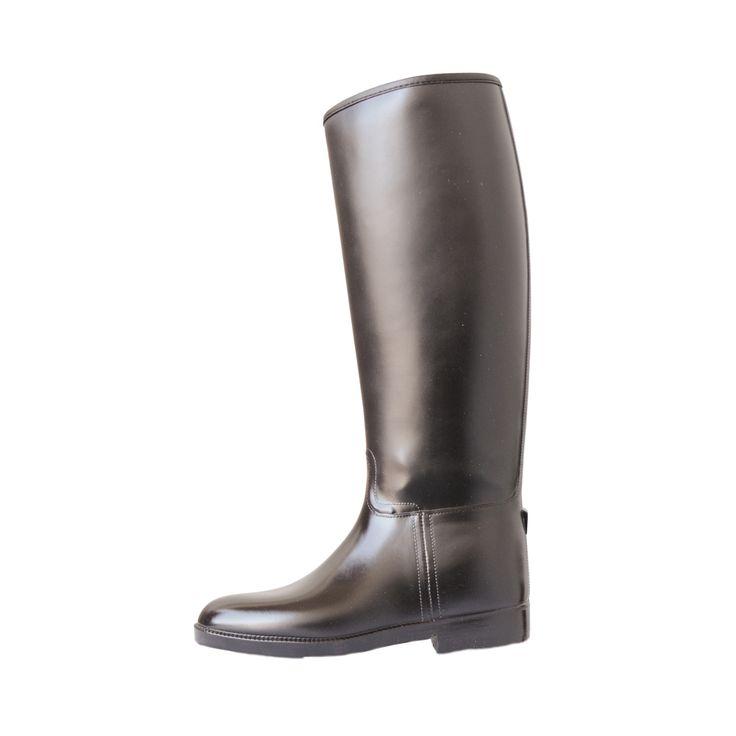 Stivali Equitazione Pro-Tech in gomma per adulti, rinforzati nel tallone e lungo la pianta del piede. Realizzati in materiale pvc con fodera interna.