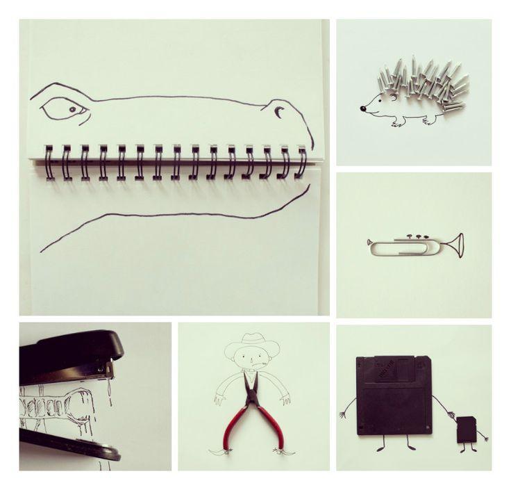 Do Doodles! Gebruik eenvoudige voorwerpen als basis voor jouw tekening. Wei heeft de meest creatieve ingeving? Zie de Activitheek van www.doenkids.nl