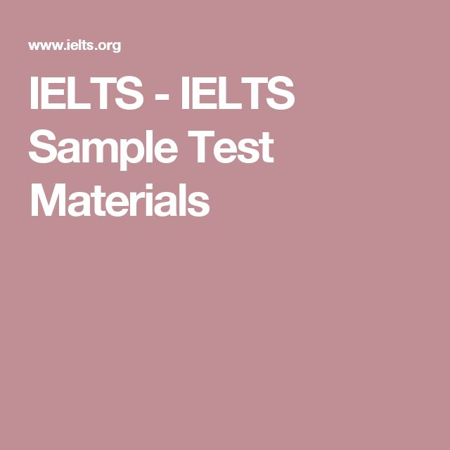 IELTS - IELTS Sample Test Materials
