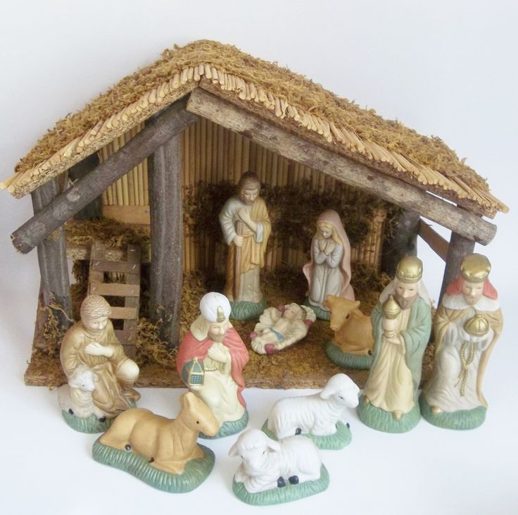Vintage Nativity Set  1980s Christmas Scene with by PopCulturelle, $40.00