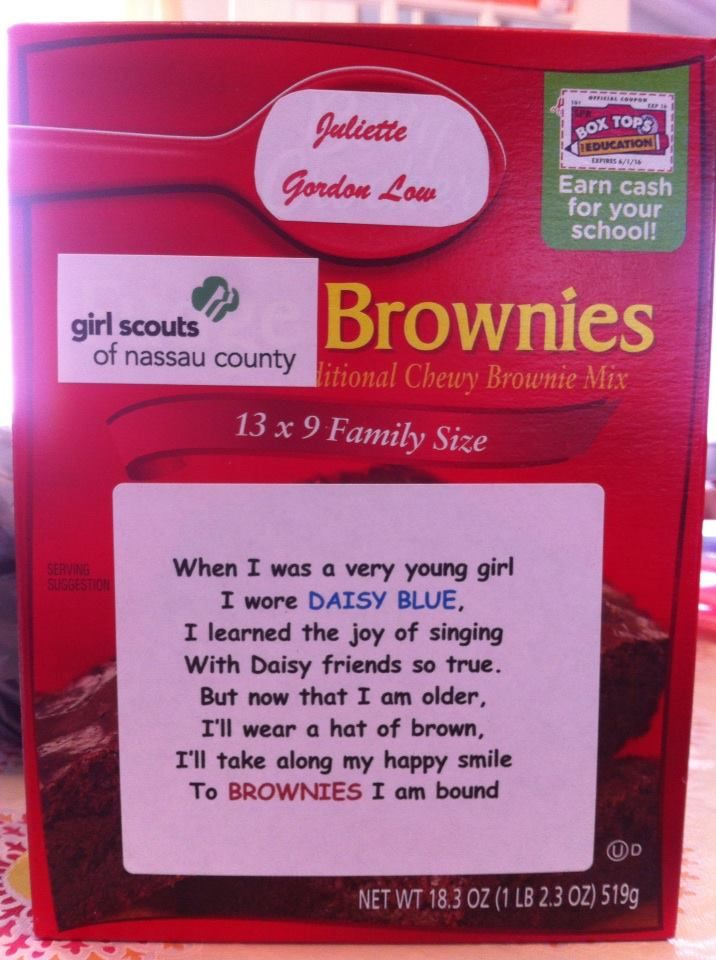 I made these for our Girl Scout Daisies who bridged to Brownies