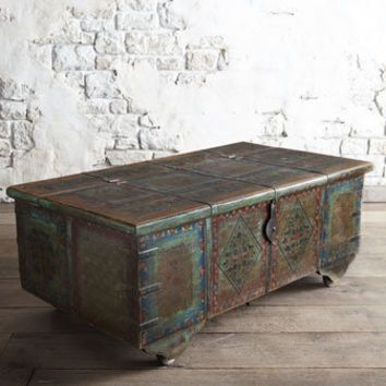 Painted Coffee Table Patina Oxidation Inspiration Horchow