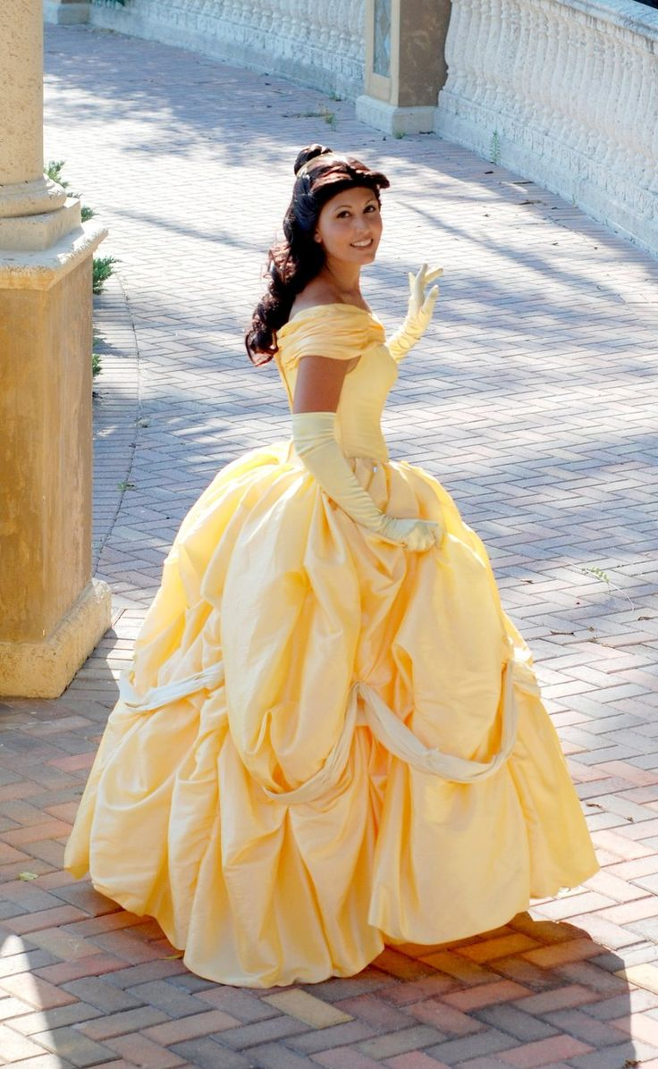 Interesting Custom Adult Princess Belle Ball Gown Beauty And The Beast Dress Cosplay With Disney Wedding