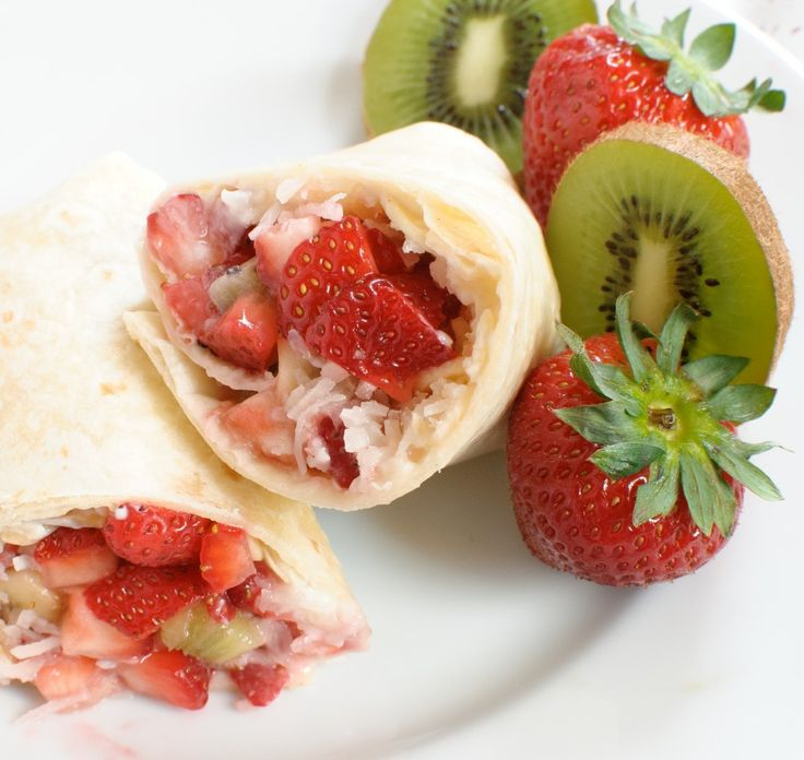summer fruit dessert burritos   Mexican Recipes   Pinterest