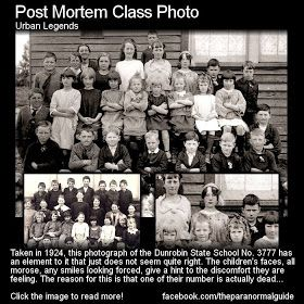 Post Mortem Class Photo. The students all look a little morose, upset, not a genuine smile to be seen. Why do the students look so unhappy in this photo? The answer may shock you – one of the students in the photogaph is dead. In the back row, the girl farthest to the right with the headscarf, wears a completely blank expression, her eyes devoid of all emotion. She had passed away the previous day. No records explain how she died. all we know is her last name is Howlett.