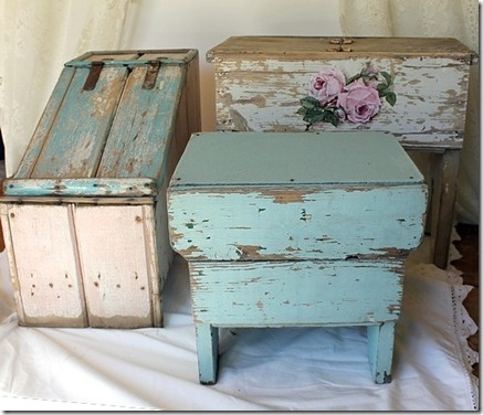 Such a wonderful grouping of vintage stools! The soft colours are pure joy.
