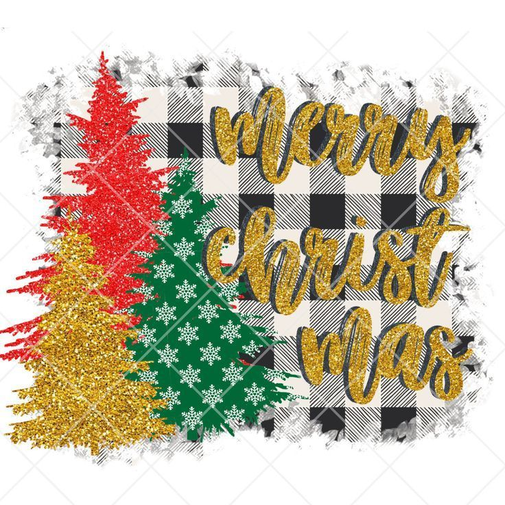Christmas Tree PNG Sublimation Design Clipart Graphic Instant Digital Download Commercial Use Wild X-Mas Leopard Marquee Buffalo Plaid