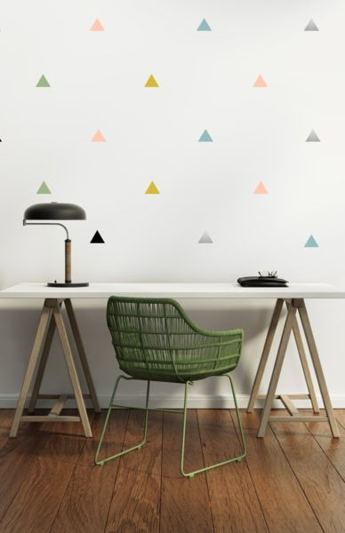 PÖM le Bonhomme Multicoloured Triangles Wall Stickers