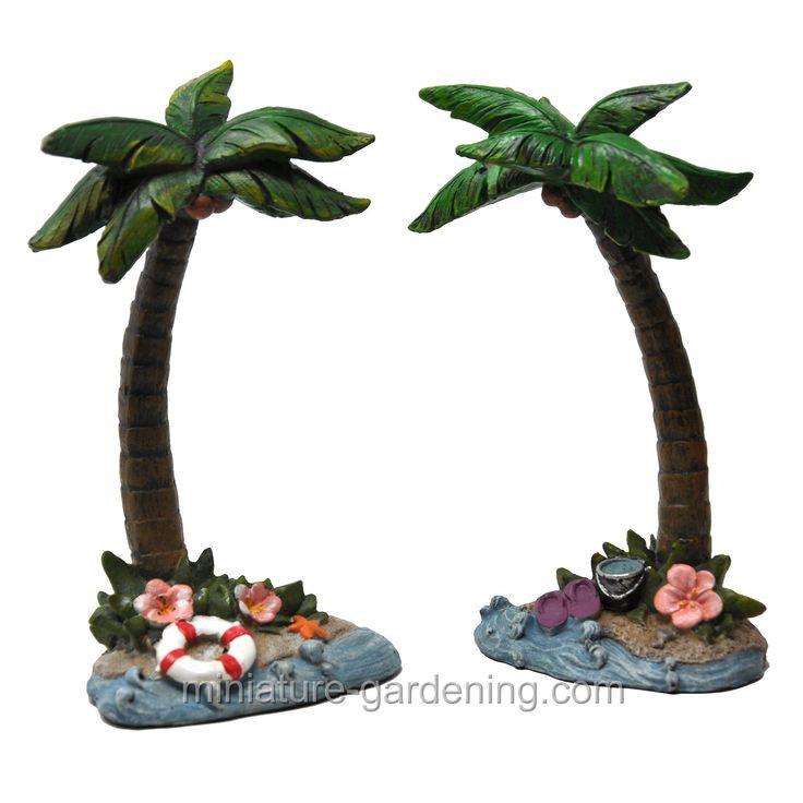 Miniature Dollhouse FAIRY GARDEN Accessories Tropical Palm Tree