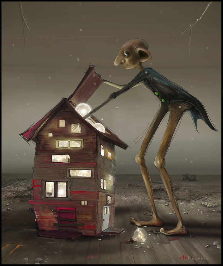 Matylda Konecka 'Bulb Factory' illustration ; http://matyldakonecka.com/?gallery=theatre-world