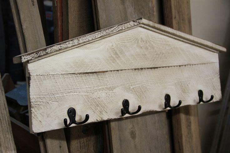French Country coat rack, shabby chic coat rack, cottage chic hat rack, rustic coat rack, hall tree, antique coat rack, wall shelf. $65.00, via Etsy.