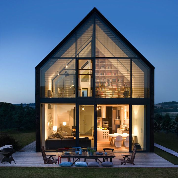 glass house More