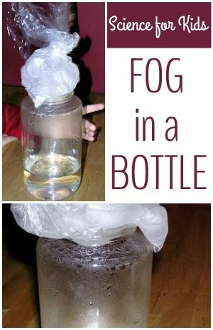 How to make fog in a bottle. Fun and easy science project for kids.