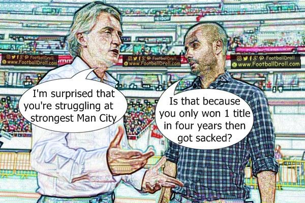 Roberto Mancini is Surprised that Pep Guardiola is Struggling at Manchester City #Guardiola #Mancini #ManCity #PL #Messi #Barcelona #Ronaldo #Neymar #Aguero #Bale #Jokes #Comic #Laughter #Laugh #Football #FootballDroll #Funny #ManUnited #CR7 #FCBLive #HalaMadrid #ForçaBarça #LaLiga #RealMadrid #Enrique #Mourinho