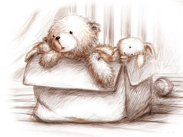 плюшевый мишка рисунок карандашом - Поиск в Google