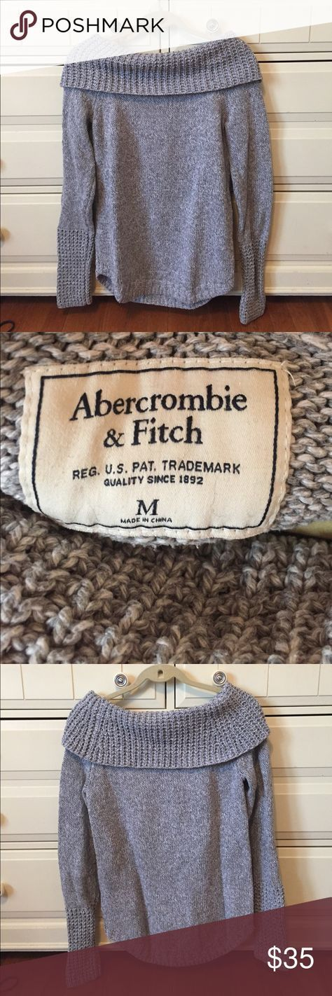 Abercrombie & Fitch 💙 Off-The Shoulder Sweater Abercrombie & Fitch 💙 Off-The Shoulder Sweater - this cozy sweater is perfect for any fall/winter day with a pair of jeans or leggings - NO TRADES Abercrombie & Fitch Sweaters