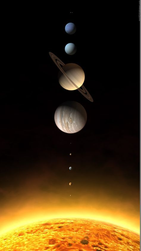 realistic solar system planets rendering iphone 6 hd wallpaper
