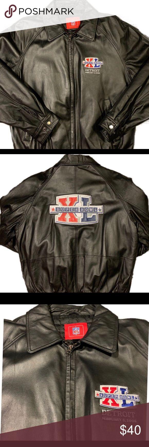 Vintage 2006 Super Bowl NFL Leather Jacket in 2020