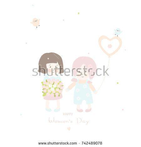 Mother's day greeting card. @knyshksenya #illustration #illustrator #ksenyaknysh #watercolor #girl #flowers #nature #illustration #art #mother #child