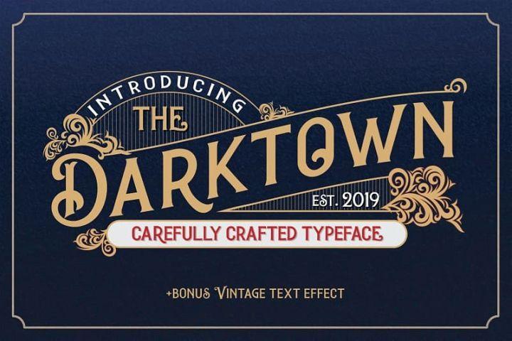 Darktown Vintage Font Vintage Fonts Download Fonts Free Script Fonts