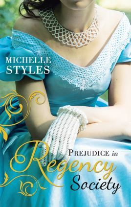 Prejudice in Regency Society by Michelle Styles reprint of A Question of Impropriety and An Impulsive Debutante. I love the dress!