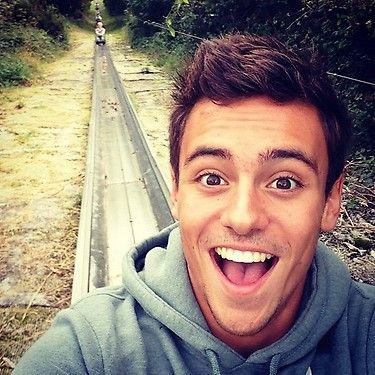 Tom Daley. Hi Tom. Mmm!
