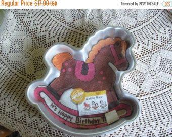 SALE Childrens Rocking Horse Cake Pan 1984 Wilton Cake Pans Rocking Horse w/ Papers Childs Birthday